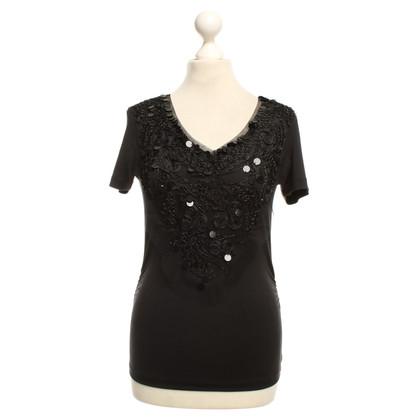 Rena Lange T-shirt with sequin trim