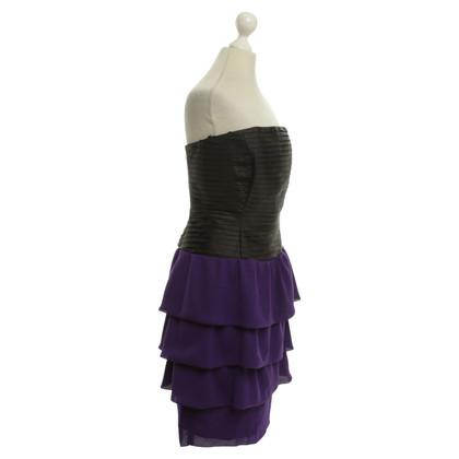 Reiss Kleid in Schwarz/Violett