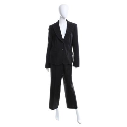 René Lezard Pinstripe suit in black