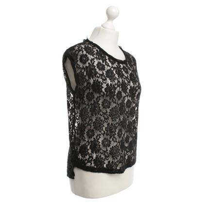 Dolce & Gabbana camicetta di pizzo in nero