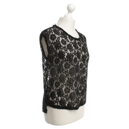 Dolce & Gabbana Spitzenbluse in Schwarz