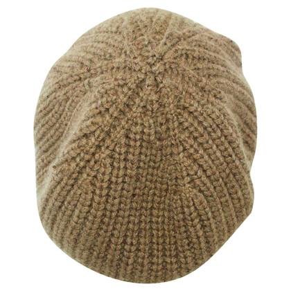 Brunello Cucinelli Baskische hoed gemaakt van kasjmier