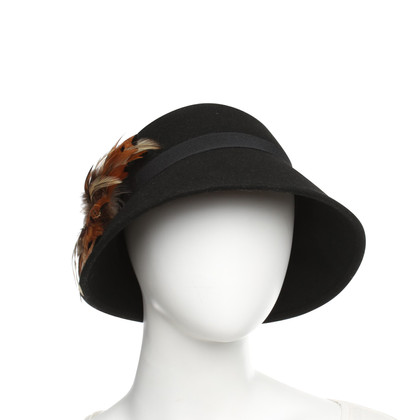 Badgley Mischka Hat with feathers