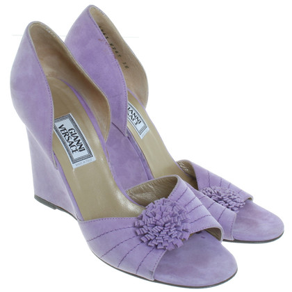 Gianni Versace Wedges in violet