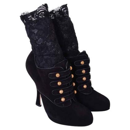 Dolce & Gabbana Stiefeletten in Schwarz