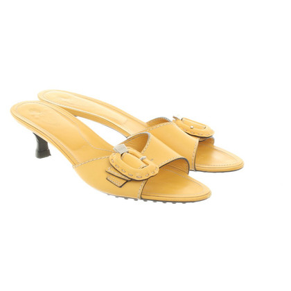 Tod's Mules in yellow