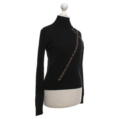 Versace Sweater in black / beige