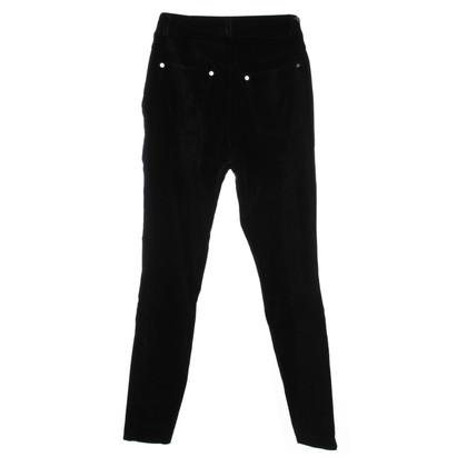 Gianni Versace Fluwelen broek in zwart