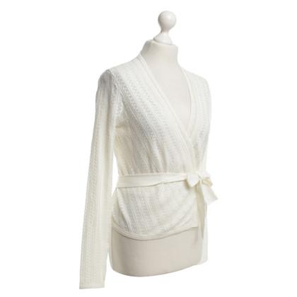 Diane von Furstenberg Crème-kleurige wrap jas