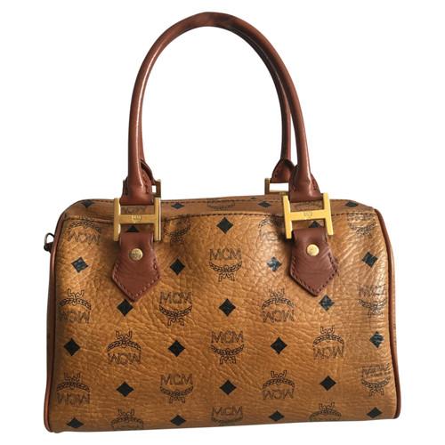 MCM Handtasche aus Leder in Braun Second Hand MCM