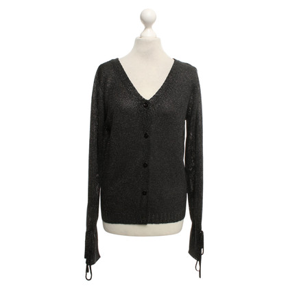 7 For All Mankind Schwarze Strickjacke mit Glitzer