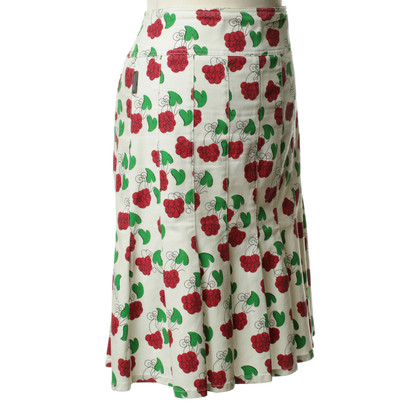 Moschino Pleated skirt with pattern