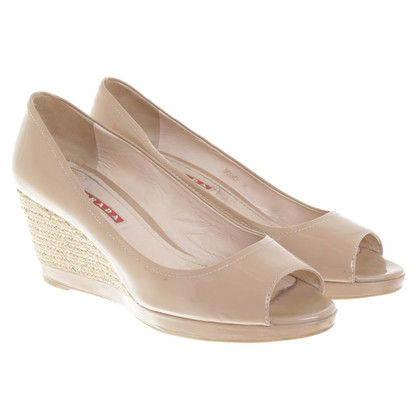 Prada Wedges in Nude