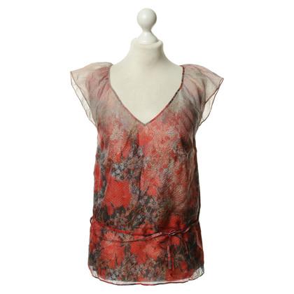 Boss Orange Zijden blouse met een bloemmotief