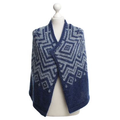 Strenesse Blue Knitted vest with pattern