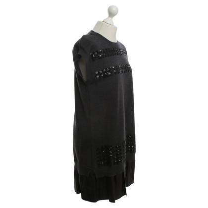 Louis Vuitton vestito lavorato a maglia in grigio scuro
