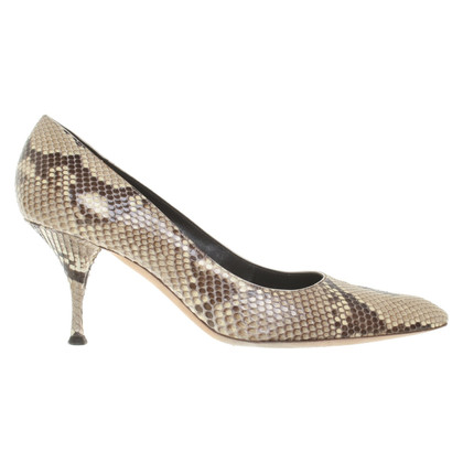 Yves Saint Laurent pumps made of python leather