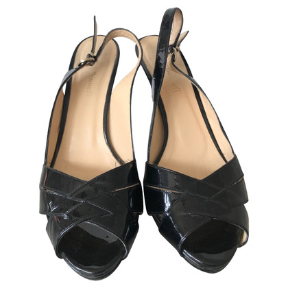 L.K. Bennett Patent leather peep-toes