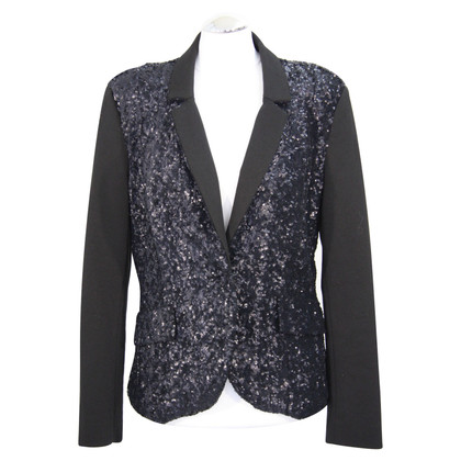 Airfield Sequin blazer in dark blue