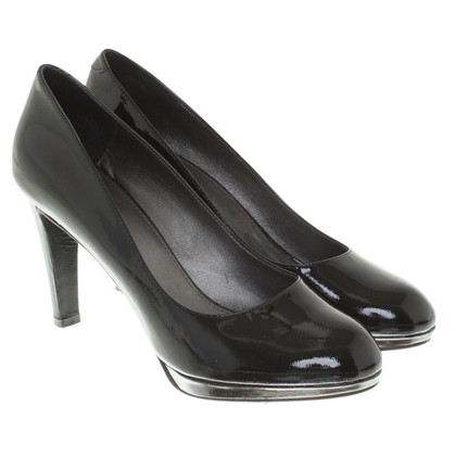 Navyboot Lacklederpumps in Schwarz
