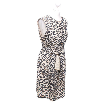 Marc Cain Silk dress with leopard pattern
