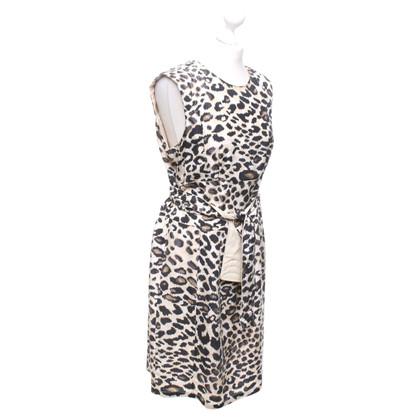 Marc Cain zijden jurk met luipaardpatroon