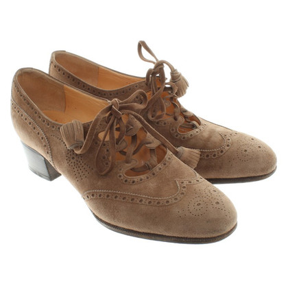 Hermès Lace-up shoes in Ocher