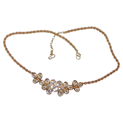 Christian Dior Necklace with Rhinestones