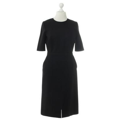 Victoria Beckham Wool Dress in dark blue