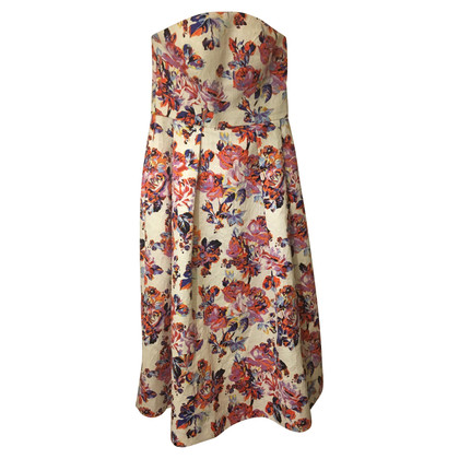 Mary Katrantzou Mary Katrantzou strapless floral dress