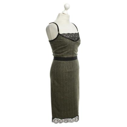 Dolce & Gabbana Plaid lace dress