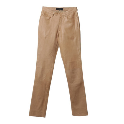 Gucci Leather trousers in beige