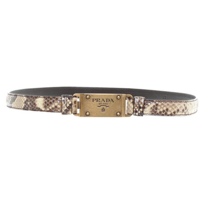 Prada Snakeskin belt in ochre
