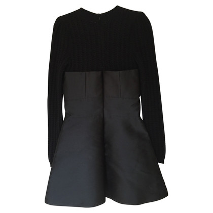 Red Valentino Zwarte mini-jurk