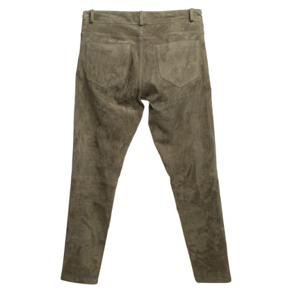 Joseph Suede pants in olive