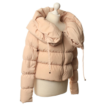 Elisabetta Franchi Quilted Jacket in nude