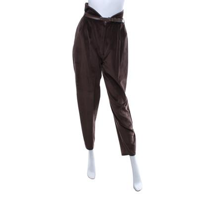 Gianni Versace Pantaloni di velluto di colore marrone