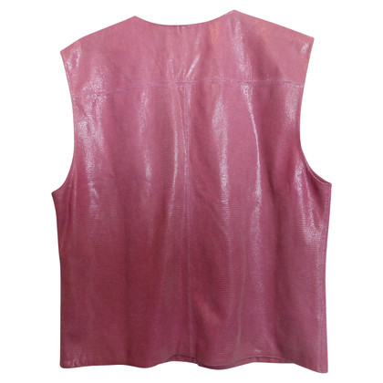 Chanel Leather vest in pink