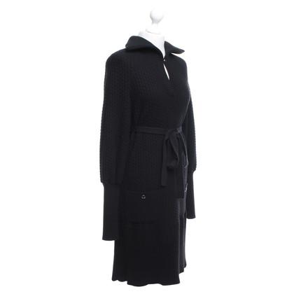 Chanel Robe en maille en noir