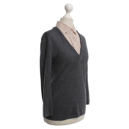 Tory Burch maglione di lana in grigio