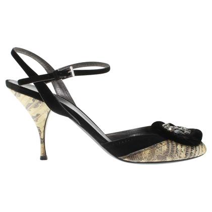 Prada Leather peep-toes