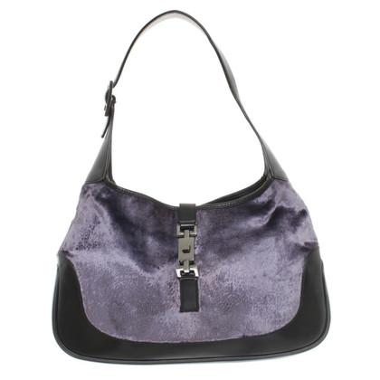 Gucci Samt-Handtasche mit Leder