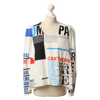 Balenciaga Text as a print blouse