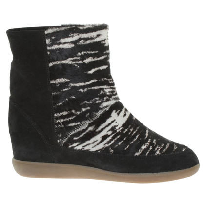 Isabel Marant Ankle boots in black / white