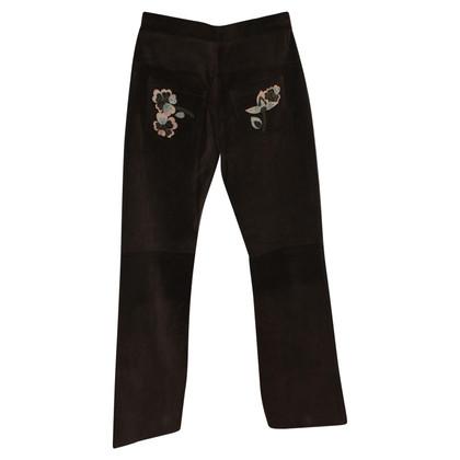 Marni Pantaloni in pelle scamosciata