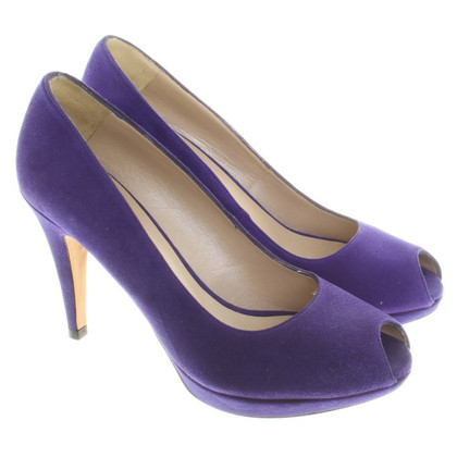 Karen Millen Peeptoes in Blau