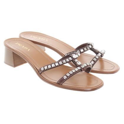 Prada Sandals with jewelery