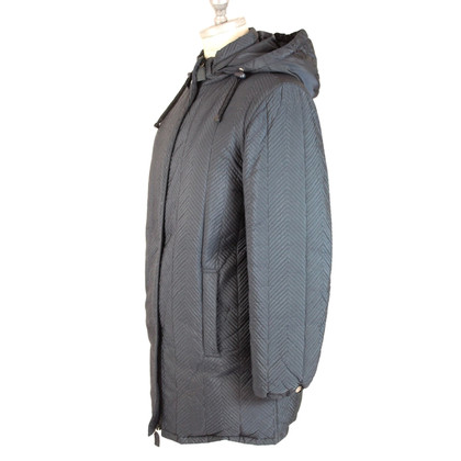 Prada Prada long puffer quilted blue coat
