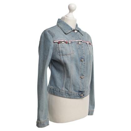 Blumarine Veste en jean avec des perles