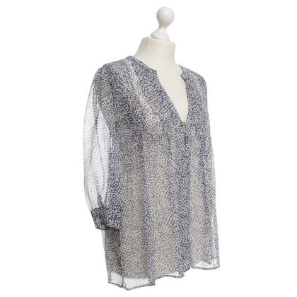 Joie Silk blouse in Blue / White